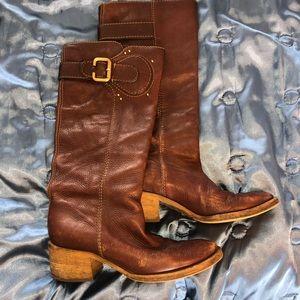 Chloe paddington tall boots worn-in brown 39.5 9.5